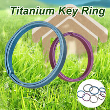 Durable Titanium Alloy Key Ring Pocket Split Keychain Buckle Circle Clip