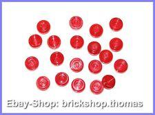 Lego 20 x Platte rund Transparent Rot (1 x 1) - 4073 -Trans Red Plate - NEU /NEW