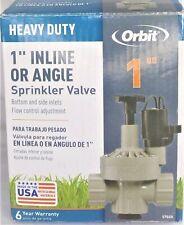 "New listing Orbit Heavy Duty 1"" Inline, Angle 57020 Flow Control Adjustment Sprinkler Valve"