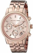 **NEW* LADIES MICHAEL KORS ROSE GOLD RITZ CRYSTAL WATCH MK6077 -RRP £229