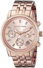 **NEW* LADIES MICHAEL KORS ROSE GOLD RITZ CRYSTAL WATCH MK6077 -RRP £229
