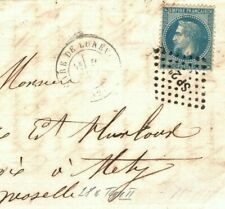 FRANCE Classic Cover SUPERB RAILWAY TPO *SP2a* Lozenge Dots Cancel 1870 EL MA861