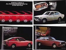 1978 TOYOTA KE30 COROLLA Australian Brochure Hardtop Liftback Sedan Wagon Van