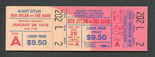 1974 Bob Dylan The Band unused full concert ticket Uniondale NY Planet Waves