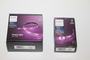 "Philips Hue White & Color 80"" Lightstrip Plus + 40"" Extension Bluetooth V4"
