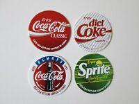 1993 Coca-Cola Bottling Company Of Hawaii set of 4 pogs Diet Coke Sprite Classic