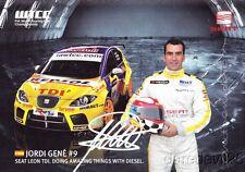 Jordi Gene signed Seat Sport Leon TDI WTCC postcard