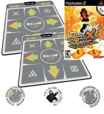 PS2 DDR X Dance Dance Revolution DDRx +2 x Energy Regular Dance Pads