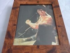 Bruce lee scrapbook rare photos Framed 10by8 mounted wood frame classic scenes 1