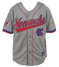NLBM Mens Kansas City Monarchs Baseball Jersey Gray