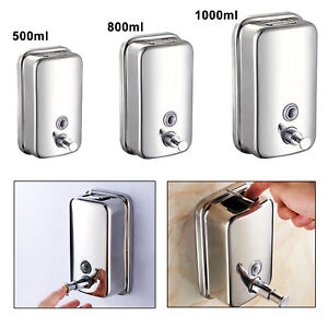 Wall Mounted Soap Dispenser Toilet Shower Gel Shampoo Lotion Conditioner