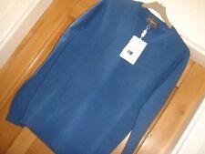 100% Homme Cashmere Pull Neuf de la marque Eric BOMPARD taille S bleu 245 euros