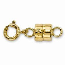 14k MAGNETIC CLASP W/ Ring Converter Yellow SOLID Gold Bracelet Necklace US made