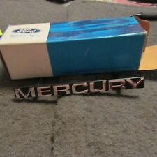 "NOS 1985 - 1989 MERCURY COUGAR GRILLE ""MERCURY"" EMBLEM NAME PLATE E5WY-8A223-A"