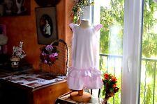 robe tartine et chocolat rose tendre 6 ans froufrou noeud en bas
