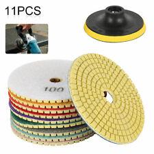 11pcs 4'' Diamond Polishing Pads Felt Disc Mixed Set Stone Concrete Marble Tool