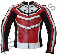 """DIMENSION"" neXus New Leather Biker Motorcycle Jacket - All sizes!"