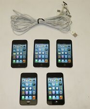 Lot of 5 Black Apple iPod touch (4th Gen) 8Gb Mp3 Music Players A1367 ~ Reset