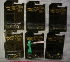 2018 Hot Wheels 50th ANNIVERSARY BLACK and GOLD �œ�Complete SET of 6�œ�diecast cars