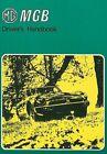 MG MGB Driver's Handbook by Brooklands Books Ltd: New