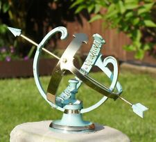 165mm Tall Antique Verdigris Finish Profatius Garden Armillary Sundial Ornament