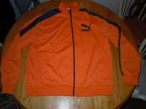 PUMA ORANGE TRACK JACKET MENS XL NWT HEROS T7 SPORT LIFESTYLE
