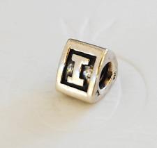 "Genuine Pandora Silver Charm ""Letter I"" - 790323I - retired"