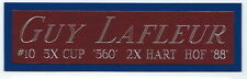 GUY LAFLEUR NAMEPLATE FOR AUTOGRAPHED Signed STICK JERSEY PUCK PHOTO CASE