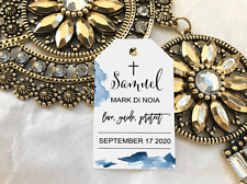 10 Gift Tags Baptism Christening Confirmation Bomboniere Personalised Cross V7