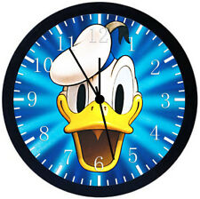 Disney Donald Duck Black Frame Wall Clock Nice For Decor or Gifts E371