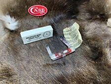 1989 Case Bechtler Knife Club Canoe Jigged Red Bone Handles Mint In Box - 60C