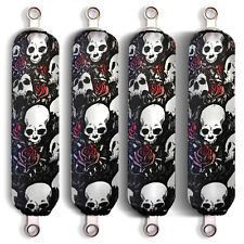Black Skull Shock Covers Polaris Youth Ranger RZR 170 Side by Side (Set 4) New