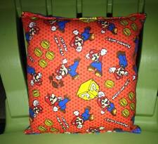 Mario Brothers Pillow HANDMADE Its Me Mario Pillow Made in USA