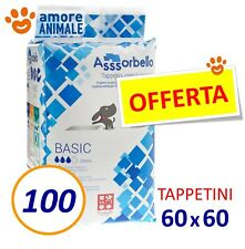 100 TAPPETINI ASSORBELLO 60x60 BASIC - Assorbenti Traverse per Cani ex Fuss Dog