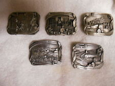 KANSAS AUCTIONEER BUCKLES SISKIYOU LIMITED EDITION SET OF 5 PEWTER BELT BUCKLES