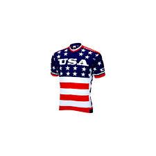 World Jerseys Team USA 1979 Retro Cycling Men's Jersey: Red/White/Blue, LG