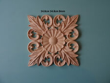 Decorative wooden flower scroll appliques furniture mouldings onlay applique WK2