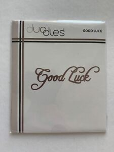Duo Dies - Mini Craft Cutting Metal Die Word Expressions - 'Good Luck'