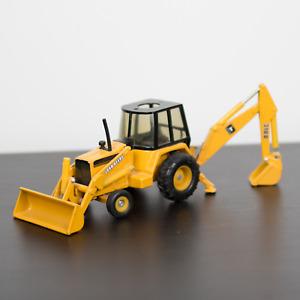 Vintage John Deere 310D Yellow Backhoe Loader Construction Toy Tractor ERTL VTG