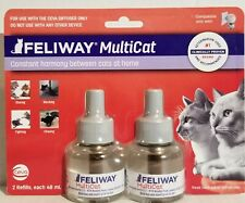 2 Pack Feliway Multicat 30 Day Refill Diffuser 48ml (Total 144ml) Exp 04/2021