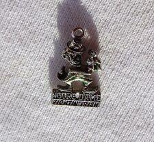 Vintage Silver Tone Charm Notre Dame Fightin Irish Fighting Leprechaun Vtg