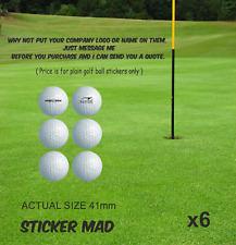 GOLF BALL Sticker Set Actual size 41mm Gloss Vinyl ( HIGH QUALITY ) Titleist x6