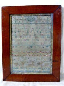Antique 18th Century Needlework Sampler, Dated 1762