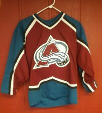 Avalanche Hockey Jersey youth LARGE Peter Forsberg