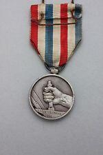 Frankreich - Silberne Medaille des Cheminots 1946 - Eisenbahn