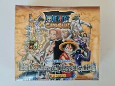 BOX 30 BUSTE ONE PIECE CARD GAME LA BANDIERA COL CAPPELLO DI PAGLIA sigillato
