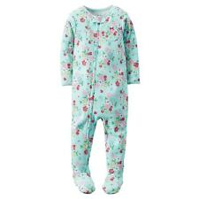 NWT Carters Girls Flower Floral Cotton Zip Footed Blanket Sleeper Pajamas 5T