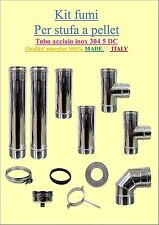 FLUE KIT FOR BIOMASS STOVES  DIAM 80MM STAINLESS STEEL 304 5/DC PROMOTION
