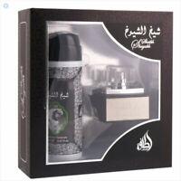 Sheikh shuyukh Gift set EDP 50ml Perfume 200ml spray Unisex oud fragrance