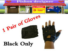 Synthetic Leather Gloves Half Finger Fingerless Bicycle Mountain Bike Cycling